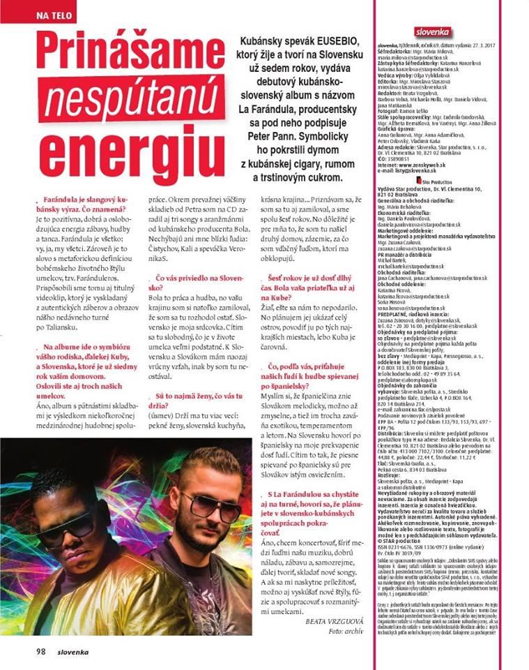 SLOVENKA: Prinášame nespútanú energiu